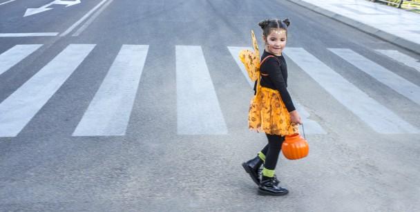 crosswalks and intersections on halloween